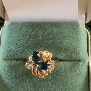 Premier Designs Simulated Sapphire Ring